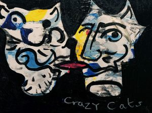 Phil King | Crazy Cats | 2015-16 | Acrylic on canvas | 30x40cm