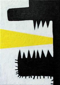 Alex Gene Morrison | Jaw Yellow Blast | 2016 | Oil on canvas | 30x21cm