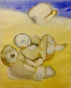 Neal Tait | Couple on the Beach | 2016 | Oil on canvas | 80x60cm
