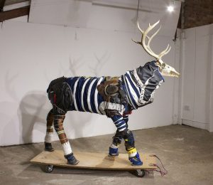Sarah Fortais | Spacesuits for Animals (Stag) | 2016 | Mixed media | 182x152x61cm