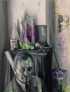Gavin Nolan   Permafrost   2017   Oil on linen   24x18cm