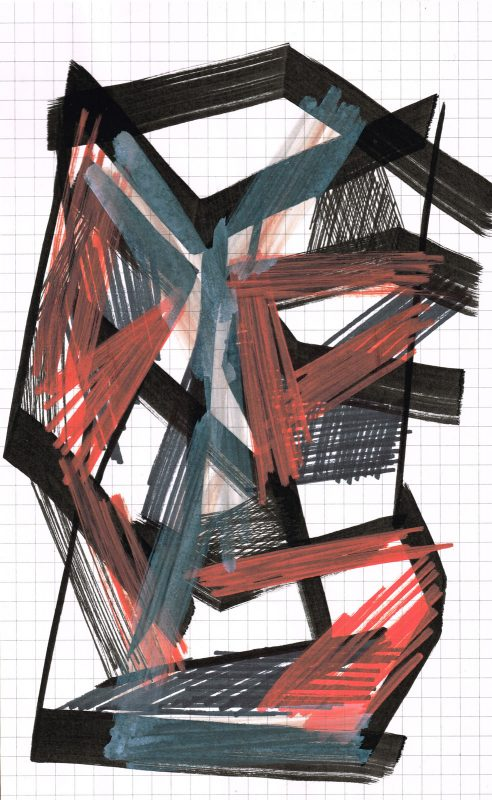 MC Llamas | Graffiti Head 17 | 2016 | Marker pen on paper | 21x13cm