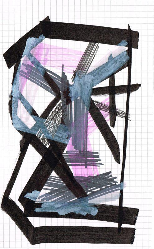 MC Llamas | Graffiti Head 1 | 2016 | Marker pen on paper | 21x13cm