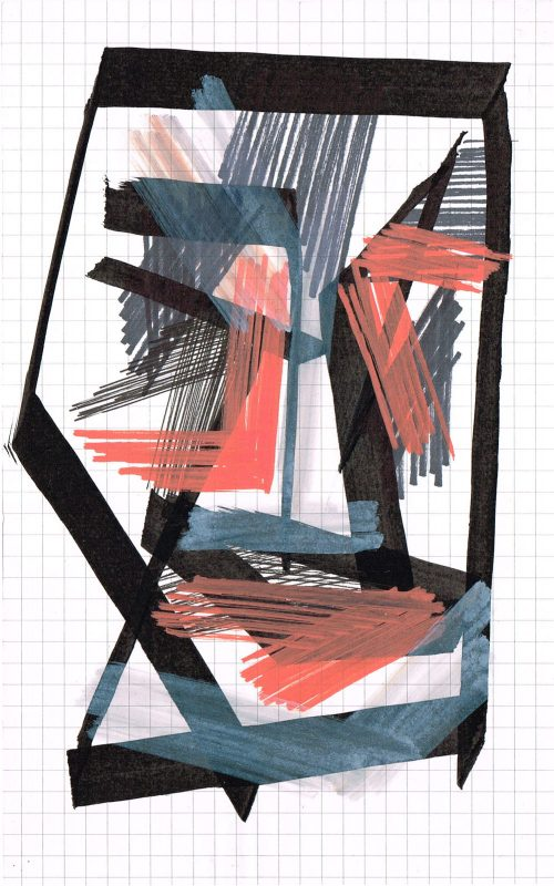 MC Llamas | Graffiti Head 2 | 2016 | Marker pen on paper | 21x13cm