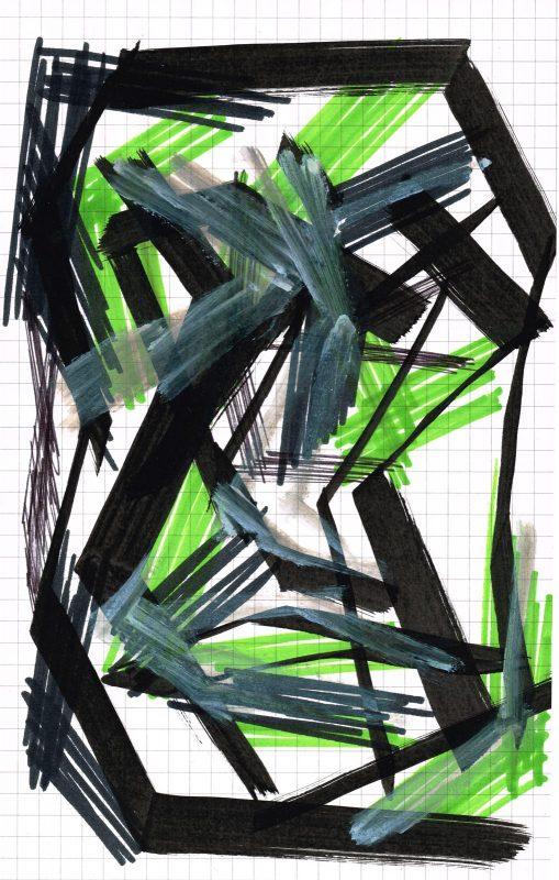 MC Llamas | Graffiti Head 6 | 2016 | Marker pen on paper | 21x13cm