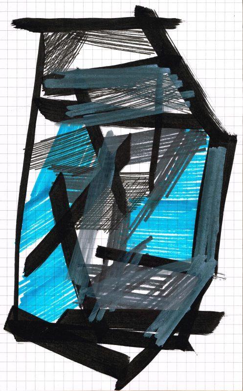 MC Llamas | Graffiti Head 81 | 2016 | Marker pen on paper | 21x13cm