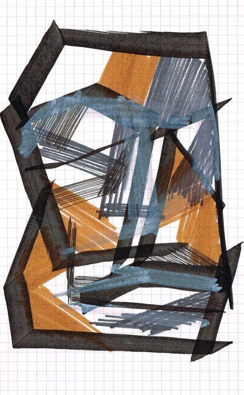 MC Llamas | Graffiti Head 33 | 2016 | Marker pen on paper | 21x13cm