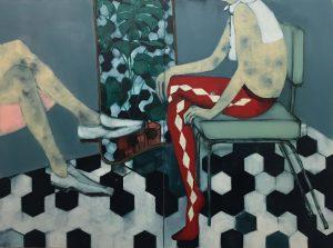 Sara Berman | Alvar Aalto and Argyll | 2016 | Oil on linen | 100x160cm