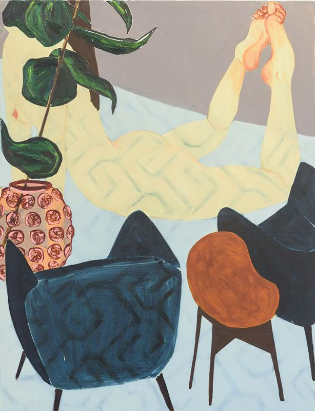 Sara Berman | Floor Show | 2016 | Oil on linen | 130x100cm