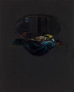 Emma Bennett | In between | 2017 | Oil on oak panel | 25x20cm