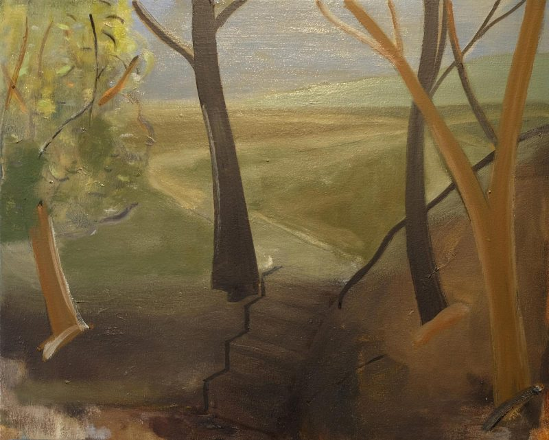 Peter Ashton Jones | The Four Steps | 2017 | Oil on canvas | 41x51cm