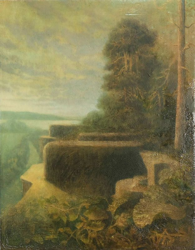 Sam Douglas | Kronstadt Fort 1 | 2016 | Oil, varnish on board | 38x29cm