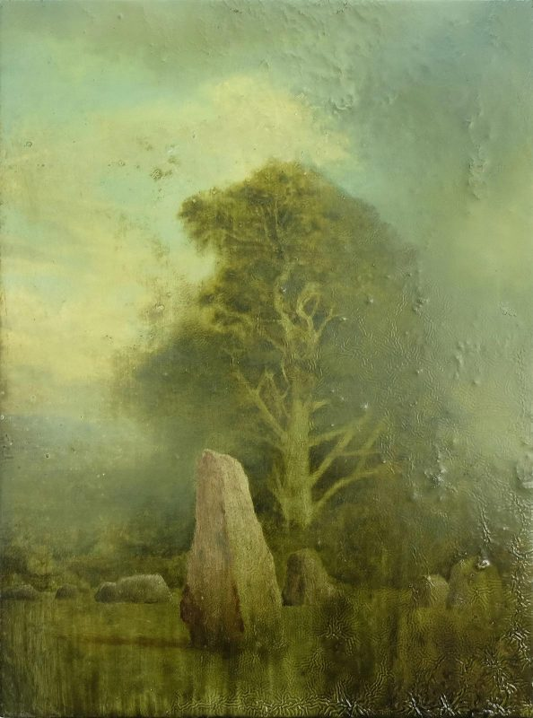 Sam Douglas | Long Meg and Her Daughters | 2014 | Oil, varnish on board | 30x20cm