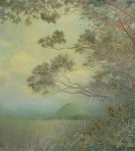 Sam Douglas | Silbury Hill | 2017 | Oil, varnish on board | 33x30cm