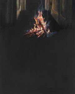 Emma Bennett | Before you turn | 2017 | Oil on oak panel | 25x20cm