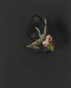 Emma Bennett | The Lapsed | 2017 | Oil on oak panel | 25x20cm