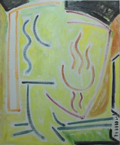 Kiera Bennett | Studio Day (Linear) | 2017 | Oil on canvas | 55x45cm