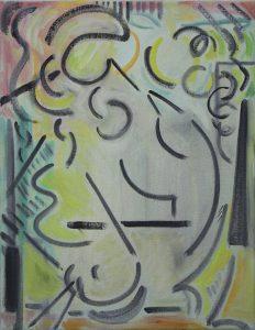 Kiera Bennett | Cave Painting Rhythm | 2017 | Oil on canvas | 45x35cm