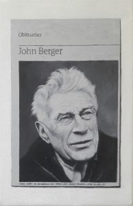 Hugh Mendes | Obituary: John Berger | 2017 | Oil on linen | 30x20cm