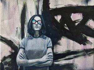 Gavin Nolan | Stereoscopic | 2017 | Oil on canvas | 18x24cm