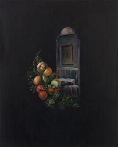 Emma Bennett | A space for us | 2017 | Oil on oak panel | 25x20cm