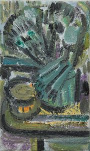 Kiera Bennett | Brush Pot | 2017 | Oil on canvas | 25.2x16cm
