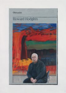 Hugh Mendes | Obituary: Howard Hodgkin | 2017 | Oil on linen | 35x25cm