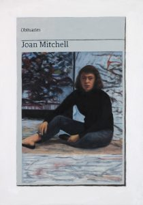 Hugh Mendes | Obituary: Joan Mitchell | 2017 | Oil on linen | 35x25cm