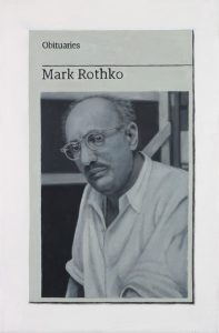 Hugh Mendes | Obituary: Mark Rothko | 2017 | Oil on linen | 30x20cm