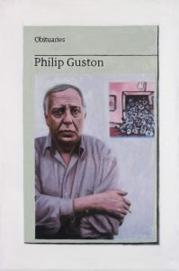 Hugh Mendes | Obituary: Phillip Guston | 2017 | Oil on linen | 30x20cm