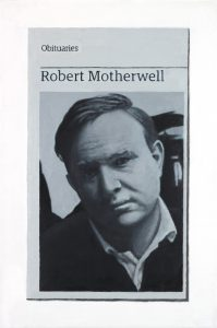 Hugh Mendes | Obituary: Robert Motherwell | 2017 | Oil on linen | 30x20cm