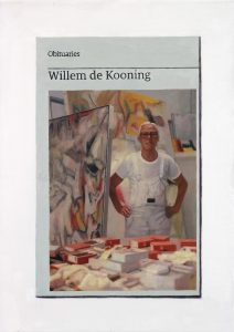 Hugh Mendes | Obituary: Willem de Kooning | 2017 | Oil on linen | 35x25cm