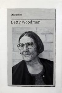 Hugh Mendes | Obituary: Betty Woodman | 2018 | Oil on linen | 30x20cm