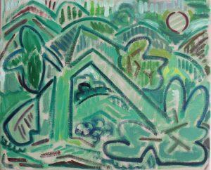 Kiera Bennett | Broken (Greens) | 2018 | Oil on canvas | 45x55cm