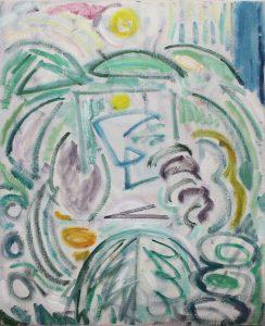 Kiera Bennett | Plein Air (Blue Edge) | 2018 | Oil on canvas | 55x45cm