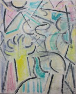 Kiera Bennett | Studio Hands (Pastels) | 2018 | Oil on canvas | 55x45cm