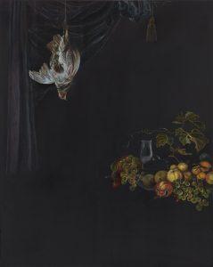 Emma Bennett | Still resisting, still insisting | 2018 | Oil on oak panel | 25x20cm