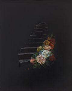 Emma Bennett | The nights that followed | 2018 | Oil on oak panel | 25x20cm