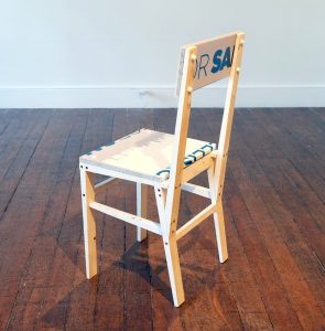 Matt Calderwood | For Sale Chair (FOR SA) | 2018 | Wood & polypropylene | 40x89x31cm