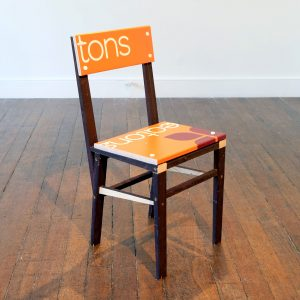 Matt Calderwood | For Sale Chair (tons) | 2018 | Wood & polypropylene | 40x89x31cm