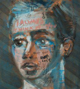 Sam Jackson | I Always Think Of You | 2018 | Oil on board | 20x18cm