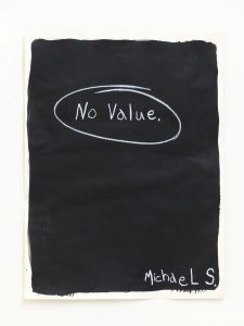 Michael Scoggins | No Value | 2014 | Graphite, china marker on archival paper | 60.1×45.7cm