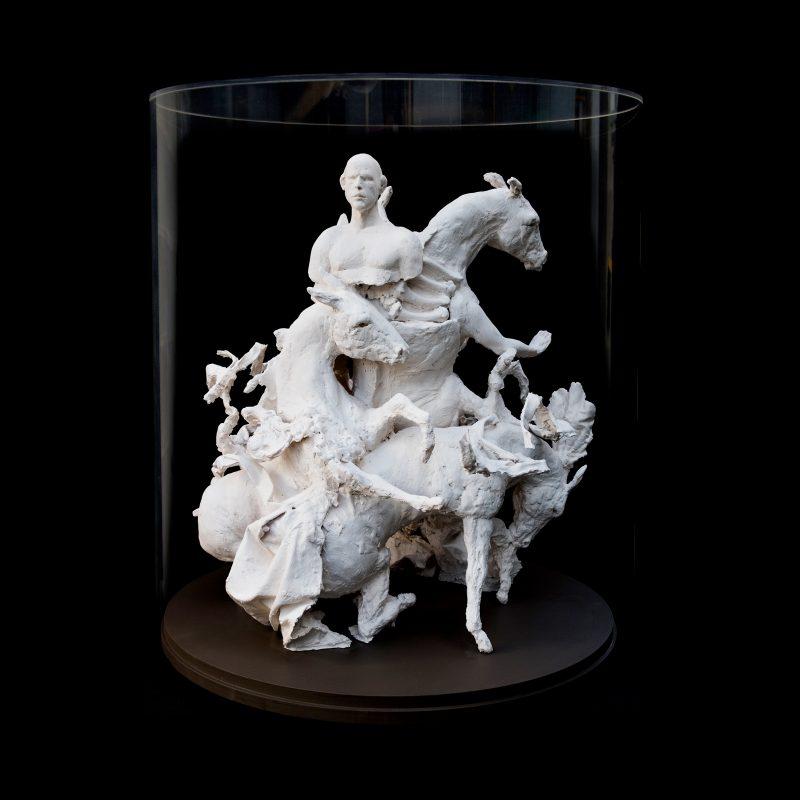 Beth Carter | Farewell Carousel III | Plaster fabric wood acrylic | 68x65x65cm