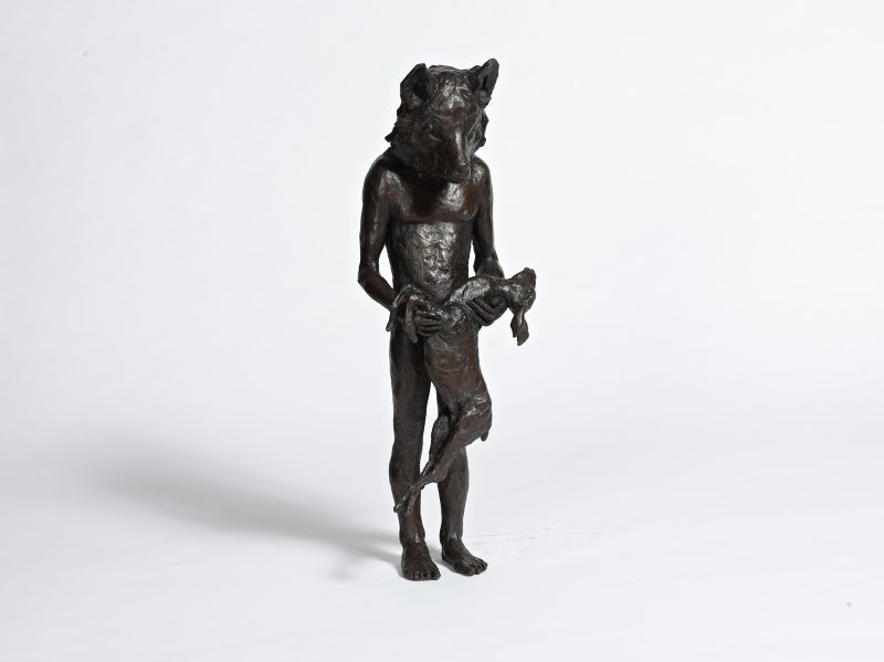 Beth Carter | Wolf with Deer | Bronze | 71x28x23cm | ed. 15
