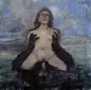 Lisa Ivory | Mons | 2018 | Oil on linen | 30x30cm