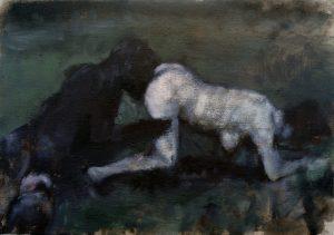 Lisa Ivory | Primitive Language | 2018 | Oil on linen | 26x36cm
