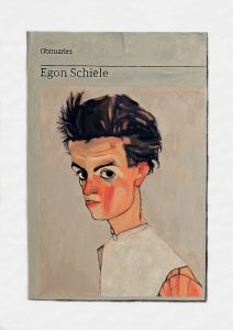 Hugh Mendes | Obituary: Egon Schiele | 2018 | Oil on | linen | 35x25cm
