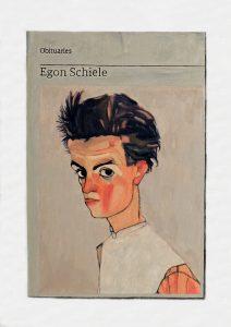 Hugh Mendes   Obituary: Egon Schiele   2018   Oil on   linen   35x25cm