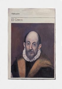 Hugh Mendes | Obituary: El Greco | 2018 | Oil on linen | 35x25cm