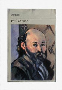 Hugh Mendes | Obituary: Paul Cézanne | 2018 | Oil on linen | 35x25cm